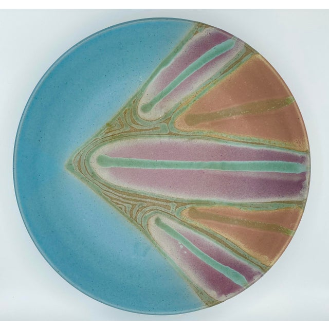Vintage Signed Studio Pottery Platter For Sale In Miami - Image 6 of 6