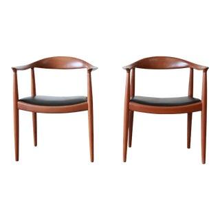 """Hans Wegner for Johannes Hansen """"The Chair"""", Pair"""
