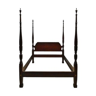 20th Century Chippendale Ethan Allen Queen Size Cherrywood Bedframe