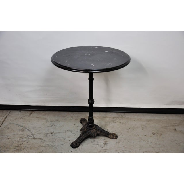 Italian Black Marble Bistro Table For Sale - Image 13 of 13