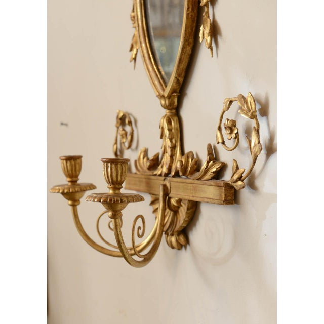 19th C. Giltwood Mirrored Sconces - a Pair For Sale - Image 9 of 11