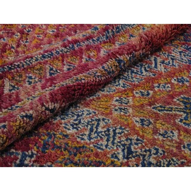 Blue Beni Mguild Moroccan Berber Carpet For Sale - Image 8 of 10