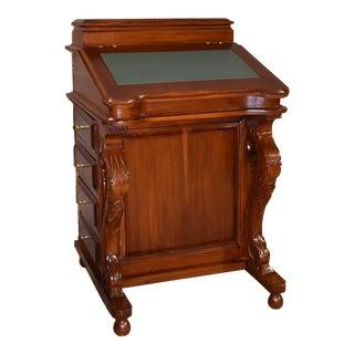 1990s English Traditional Mahogany Davenport Flip Top Desk For Sale