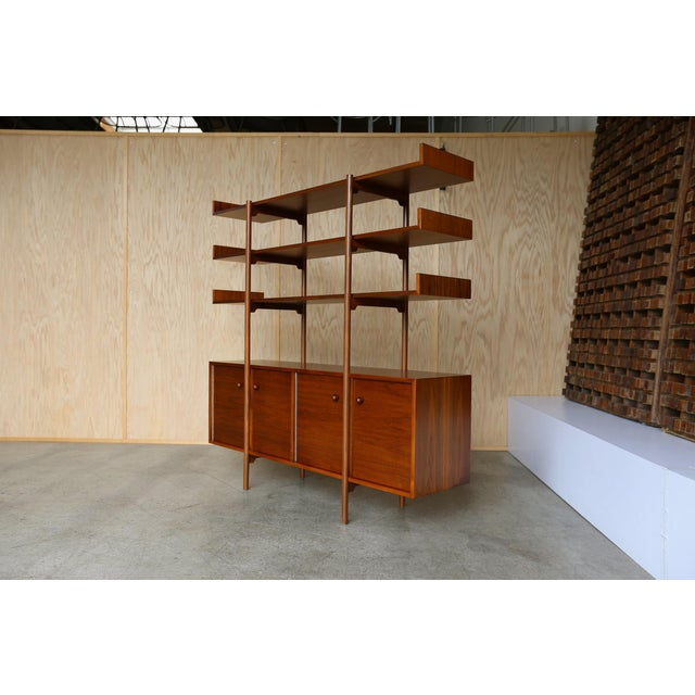 Brown Milo Baughman for Glenn of California Wall Unit For Sale - Image 8 of 11