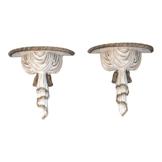 Greek Style Wall Shelves - A Pair For Sale