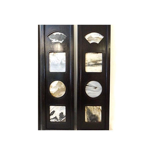 Asian Chinese Framed Dream Stones - Set of 3 For Sale - Image 3 of 8