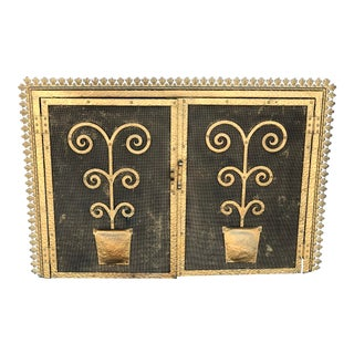 Spanish Revival Fireplace Screen For Sale