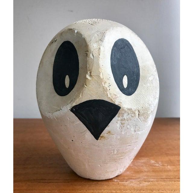Sculpting Mid-Century Original Modernist Owl Sculpture For Sale - Image 7 of 7