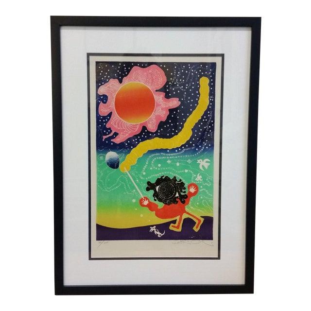 "Motoi Oi ""Playing Child Joy"" Print - Image 1 of 10"