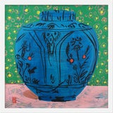 """Image of Small """"Persian Vase"""" Print by Jelly Chen, 20"""" X 20"""" For Sale"""