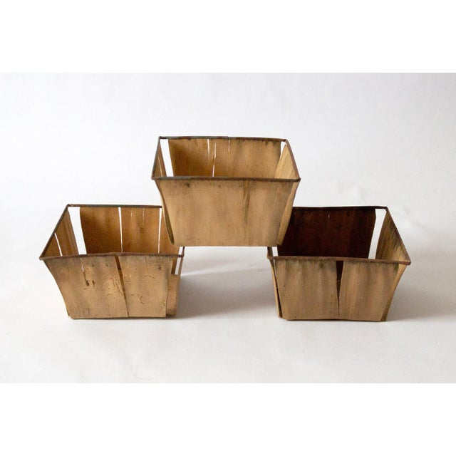 1950s Boho Chic Metal Berry Baskets - Set of 3 For Sale - Image 10 of 10