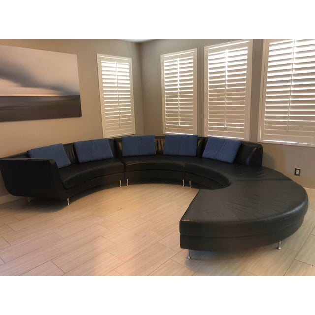 Contemporary American Leather Menlo Park Sectional For Sale - Image 10 of 13