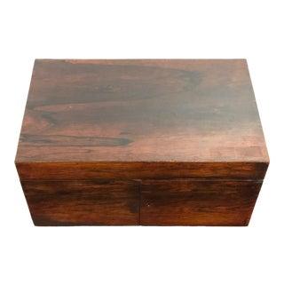 Antique Rosewood, Ebony, and Boxwood Lap Desk For Sale