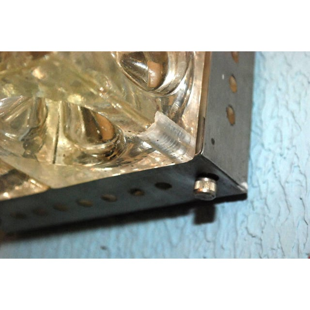 1960s Italian Murano Glass Cube Sconces / Flush Mounts by Poliarte - a Pair For Sale - Image 5 of 11