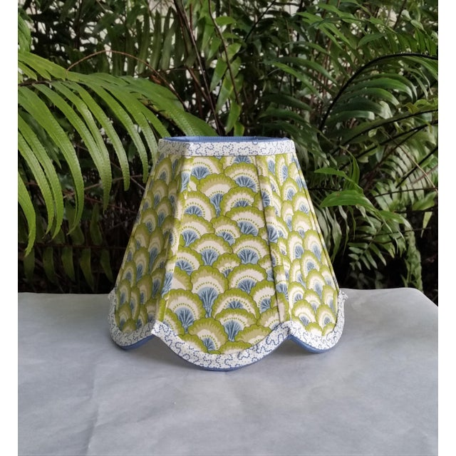 Lampshade Clip on Brunschwig Fils Fabric For Sale In West Palm - Image 6 of 10
