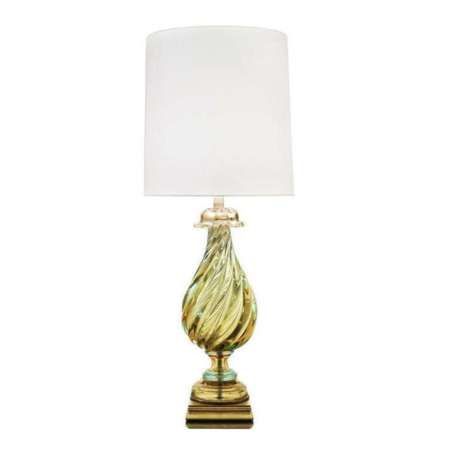 1960s Vintage 1960's Seguso Murano Italian Glass Lamp by Marbro For Sale - Image 5 of 5