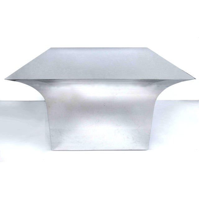 Sally Sirkin Lewis for J. Robert Scott Stainless Steel and Glass Dining Table For Sale In Miami - Image 6 of 12