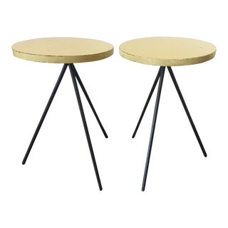 1950s Modern Norman Cherner Tripod Stools - a Pair For Sale