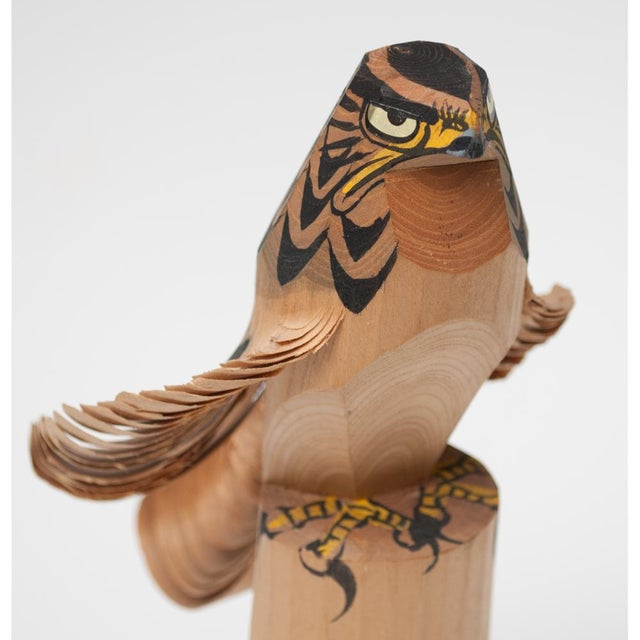 1960s Japanese Kokeshi Eagle Doll For Sale - Image 9 of 13