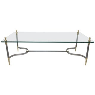 Maison Jansen Style Mixed-Metal Coffee Table, Circa 1960s For Sale