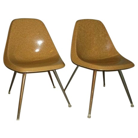 Vintage Borg-Warner Fiberglass Shell Chairs - Pair For Sale