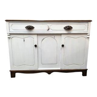 Vintage White Credenza
