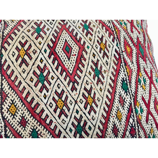 Moroccan Berber Pillow With Tribal African Designs For Sale - Image 10 of 13