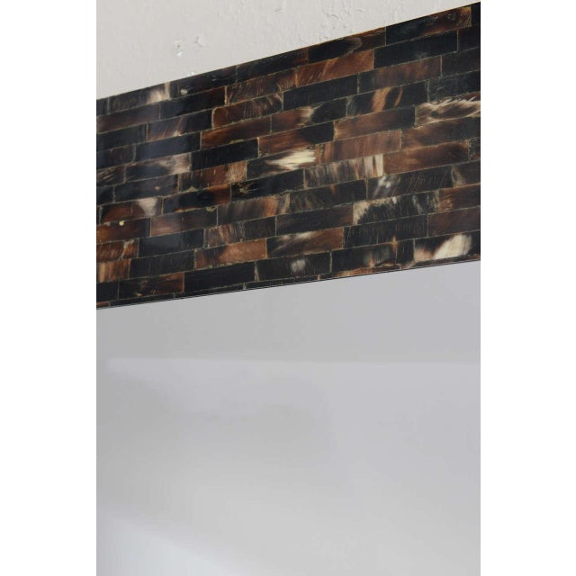 Bone Tessellated Horn Wall-Mounted Console Mirror For Sale - Image 7 of 10