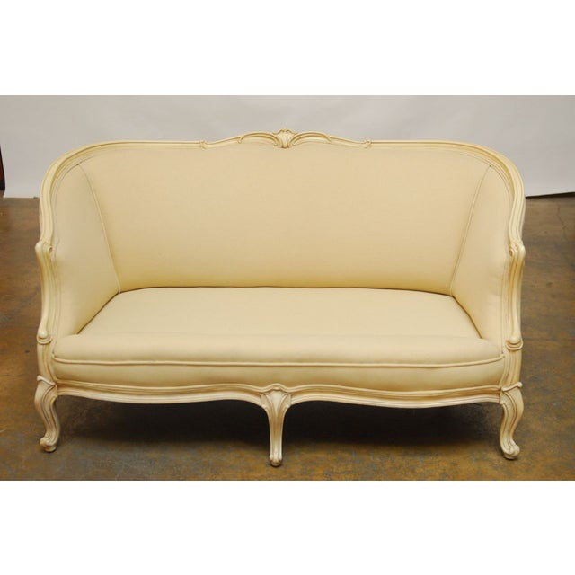 French Louis XV Style Loveseat Settee For Sale - Image 7 of 7