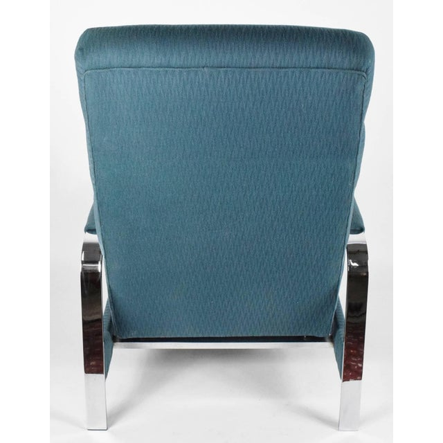 Silver Milo Baughman recliner For Sale - Image 8 of 8