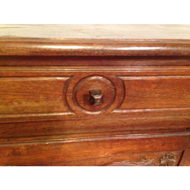 19th Century French Louis XV Walnut Buffet For Sale - Image 4 of 11