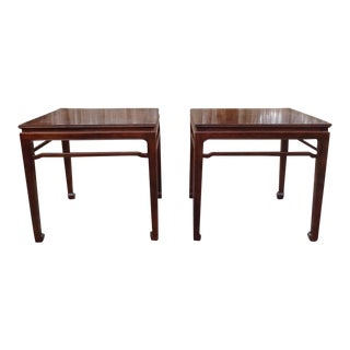 Vintage Henredon Pan Asian Chinoiserie Side End Tables- a Pair