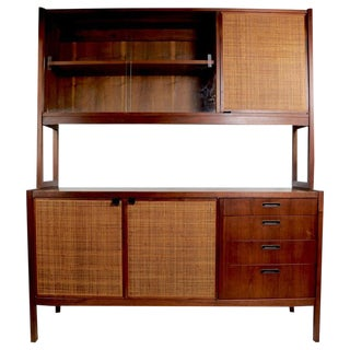 Mid Century Hutch Credenza With Grass Matt Details For Sale