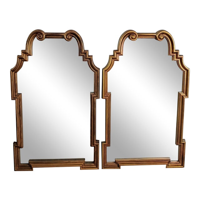 Miles Redd Hollywood Queen Ann Style Mirrors - a Pair For Sale