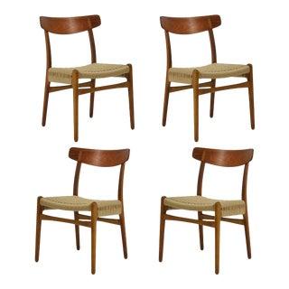 Hans Wegner Set of Four CH23 Chairs by Carl Hansen & Søn