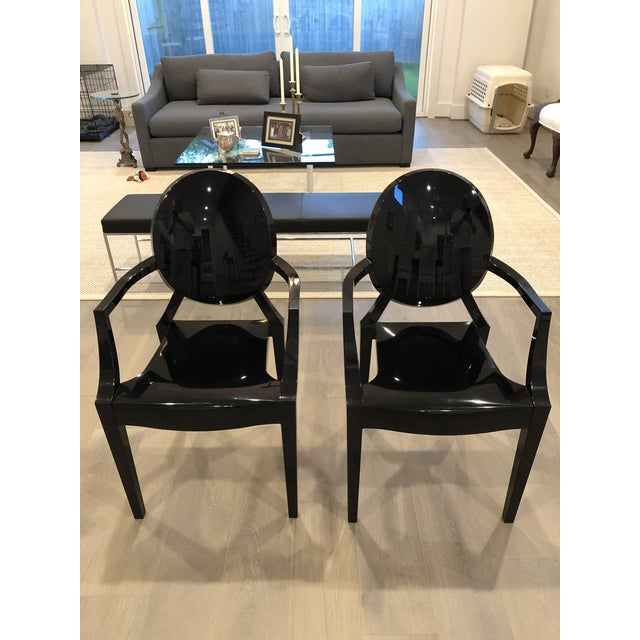 Kartell Modern Kartell Louis Ghost Chairs- Pair For Sale - Image 4 of 4