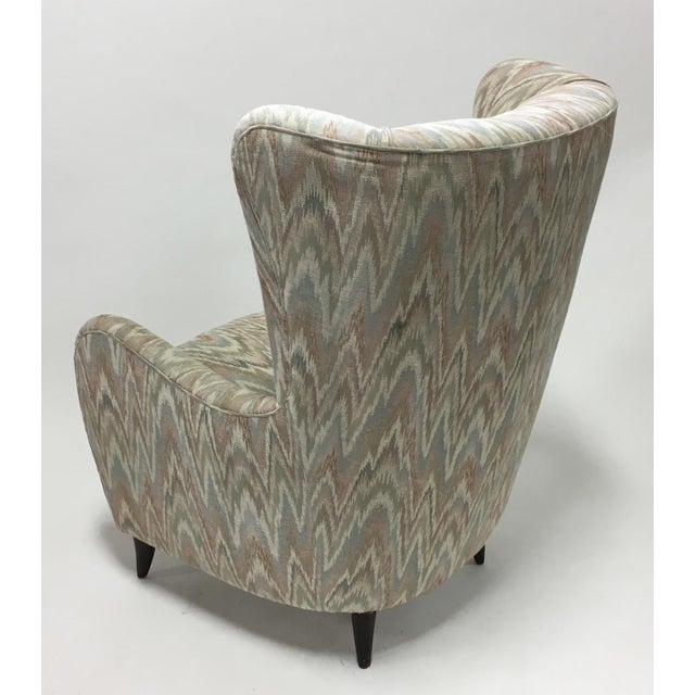 Italian High Back Lounge Chairs - A Pair - Image 7 of 11