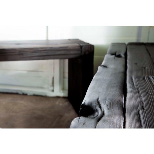 Japanese Yakisugi Wood Parsons Bench Coffee Table Chairish