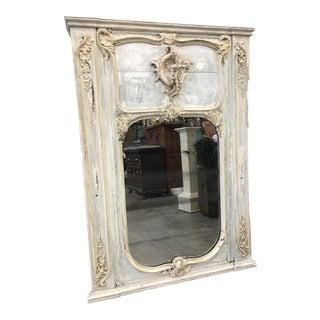 French Antique Louis XV Style Trumeau Mirror