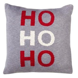 Knit Ho Ho Ho Christmas Pillow For Sale