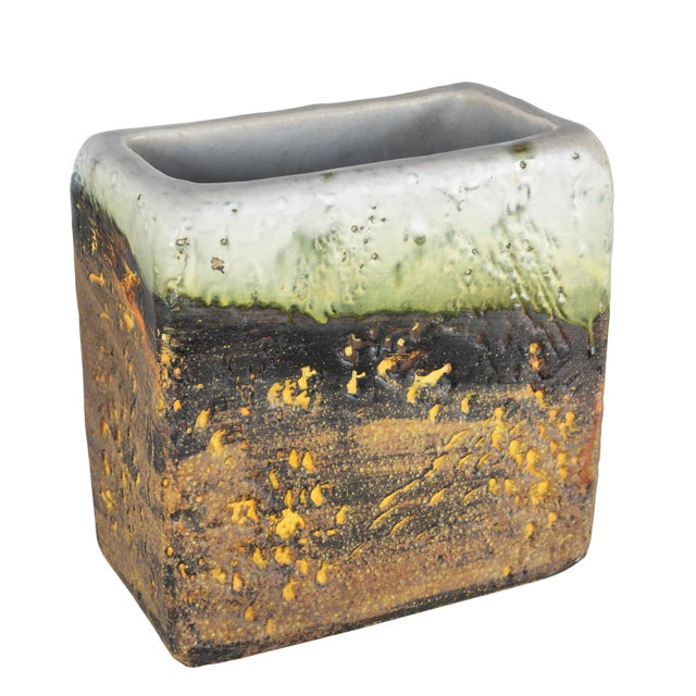 1960s Rectangular Vase by Marcello Fantoni For Sale - Image 13 of 13