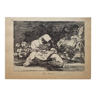 Francisco José De GoyPLATE # 68 of 'The Disasters of War' Que Locura, 1810-14, Pub. 1863 Etching For Sale