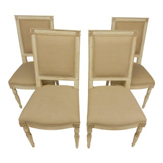 Four Painted Directoire Style Side Chairs For Sale