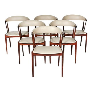 Danish Rosewood & Leather Dining Chairs