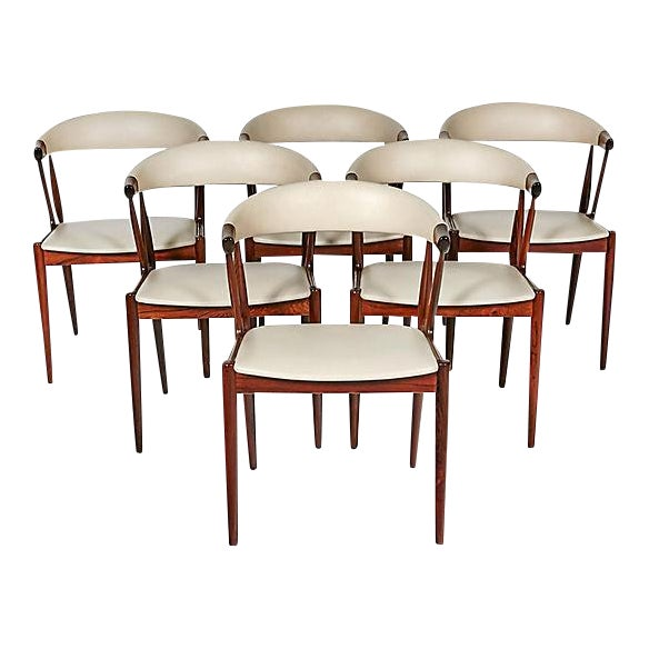 Danish Rosewood & Leather Dining Chairs - Image 1 of 12