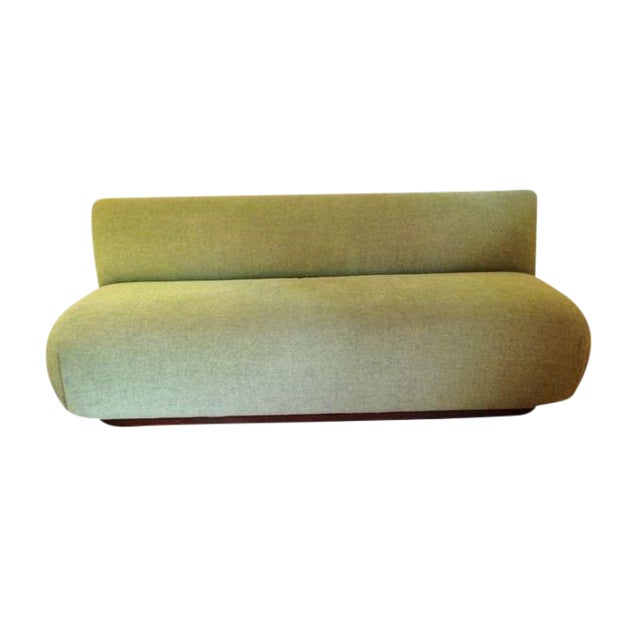 Modern Custom Made Green Couch For Sale