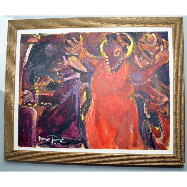 "1990s Oil Painting ""Hot Notes"" by Andrew Turner For Sale In Philadelphia - Image 6 of 6"