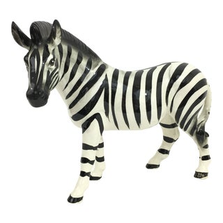 Ceramic Zebra Figure Statue For Sale