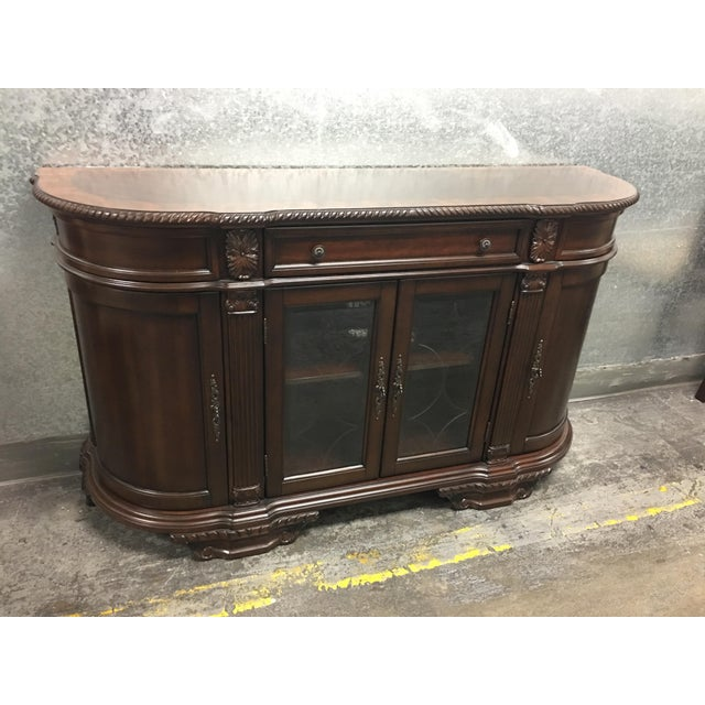Bellagio Brown Cherry Finish Server Buffet Cabinet - Image 8 of 11