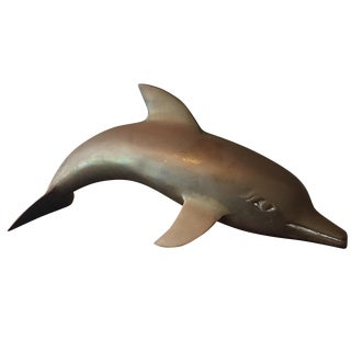 Brass Dolphin Figurine